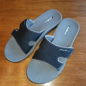 74a96bd7ec51 Eddie Bauer Shoes - Eddie Bauer black Break Point slide sandals